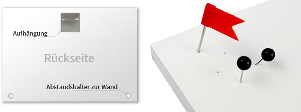 pinnwand wei er backstein inkl 5 pinnadeln shop wall. Black Bedroom Furniture Sets. Home Design Ideas