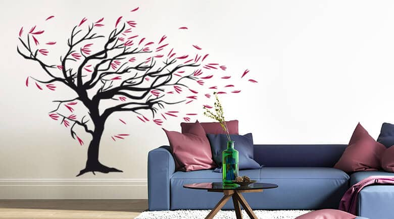 Quote on your wall or decorate your wall with a floral themed wall sticker you will not only impress your guests but also yourself every time you