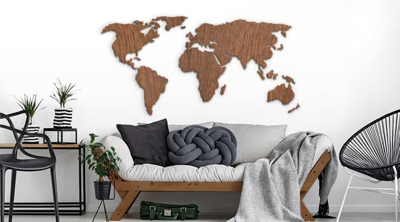 : map of the world wall art - www.pureclipart.com